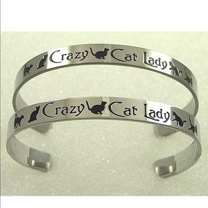 Jewelry - Crazy Cat Lady Cuff Bracelet